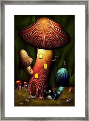 Mushroom - Magic Mushroom Framed Print by Mike Savad