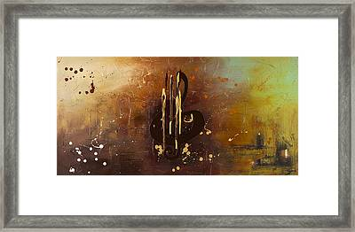 Music All Around Us Framed Print by Carmen Guedez