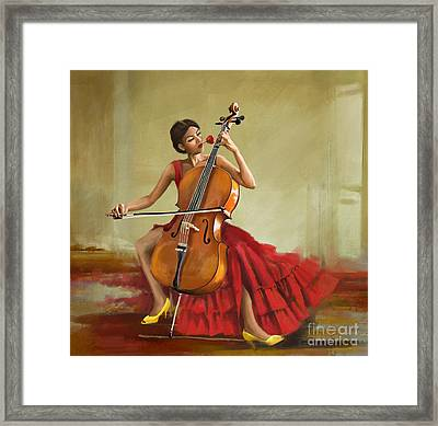 Music And Beauty Framed Print by Corporate Art Task Force