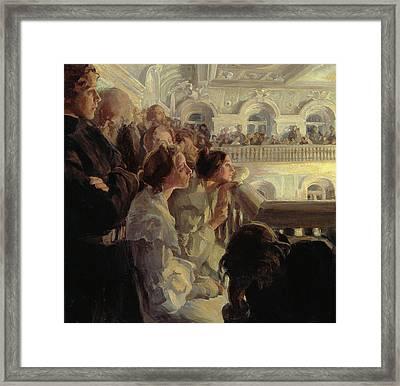Music Framed Print by Antonina Leonardov Rzhevskaya