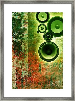 Music Background Framed Print by Christophe ROLLAND