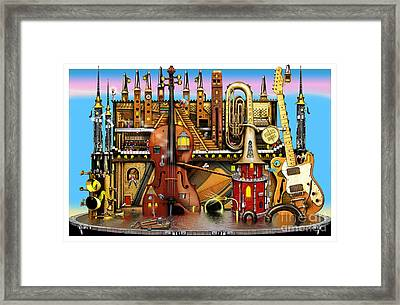 Music Castle Framed Print by Colin Thompson
