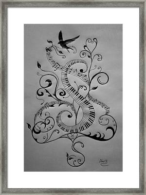 Music Equals Life Framed Print by Christopher Kyle