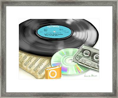 Music History Framed Print by Veronica Minozzi