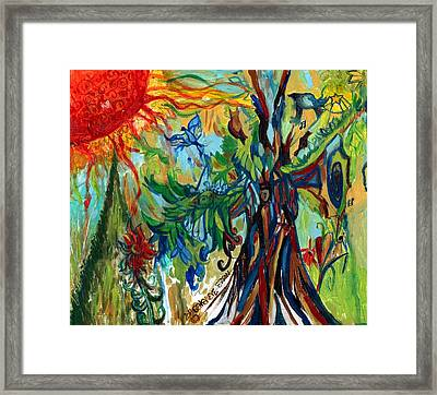 Music In Bird Of Tree Framed Print by Genevieve Esson