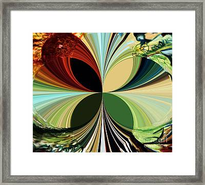 Music In Bird Of Tree Kaleidoscope Framed Print by Genevieve Esson