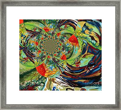 Music In Bird Of Tree Trunk Framed Print by Genevieve Esson