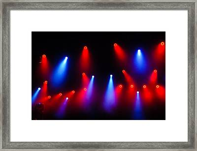 Music In Red And Blue - The Wonderful Sound Of Nightlife Framed Print by Georgia Mizuleva