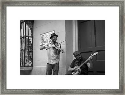Music In The French Quarter Framed Print by David Morefield