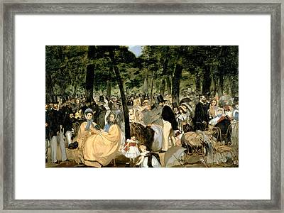 Music In The Tuileries Gardens Framed Print by Celestial Images