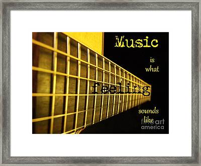 Music Is Framed Print by Andrea Anderegg