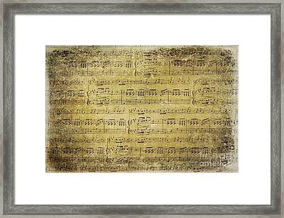 Music Is What Feelings Sound Like Framed Print by Sylvia Cook