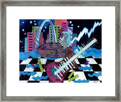 Music On The River Stl Style Framed Print by Genevieve Esson
