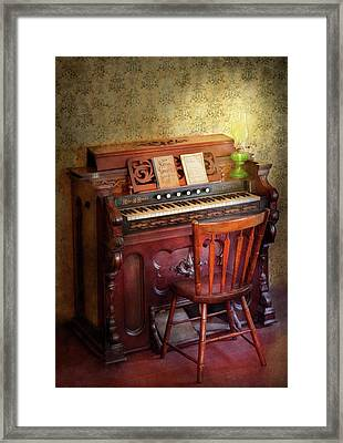 Music - Organist - Playing The Songs Of The Gospel  Framed Print by Mike Savad