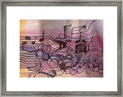 Music Out Of The Box Framed Print by Anne-Elizabeth Whiteway
