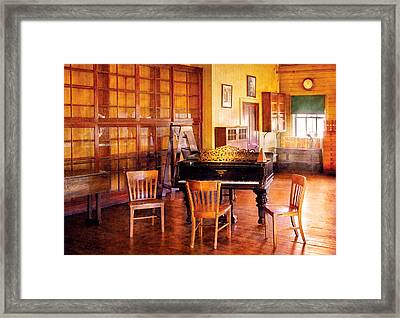 Music - Piano - Ready For Piano Lessons Framed Print by Mike Savad