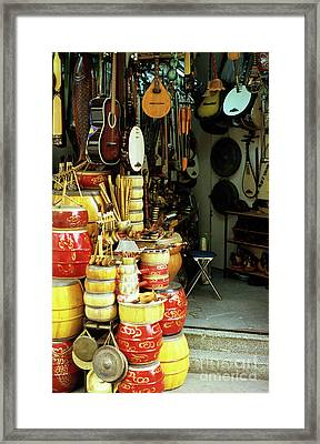 Music Shop Framed Print by Rick Piper Photography