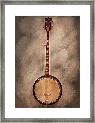 Music - String - Banjo  Framed Print by Mike Savad