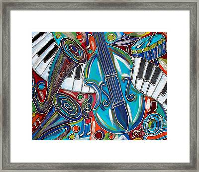 Music Time 1 Framed Print by Cynthia Snyder