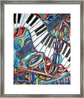 Music Time 3 Framed Print by Cynthia Snyder