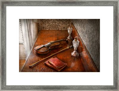 Music - Violin - A Sound Investment  Framed Print by Mike Savad