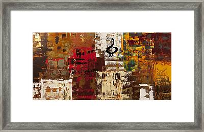 Music World Tour Framed Print by Carmen Guedez