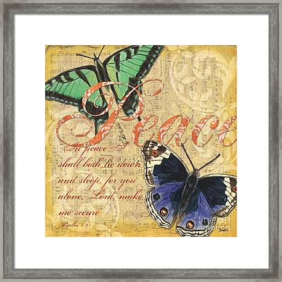 Musical Butterflies 2 Framed Print by Debbie DeWitt