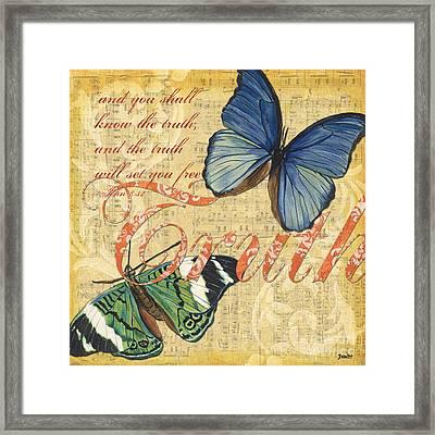 Musical Butterflies 3 Framed Print by Debbie DeWitt