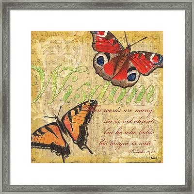 Musical Butterflies 4 Framed Print by Debbie DeWitt
