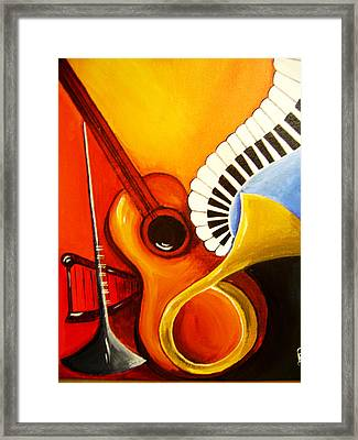 Musical Instruments Framed Print by Rajni A