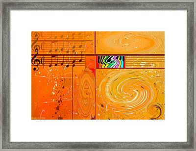 Musical Journey Framed Print by Boghrat Sadeghan