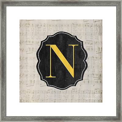 Musical Monogram Framed Print by Debbie DeWitt
