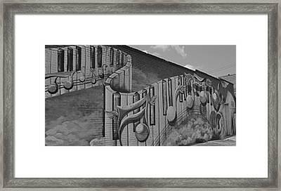 Musical Mural Framed Print by Linda Dyer Kennedy