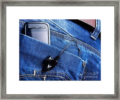 Musical Pocket Framed Print by Sinisa Botas