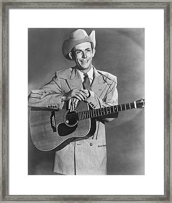 Musician Hank Williams Framed Print by Underwood Archives