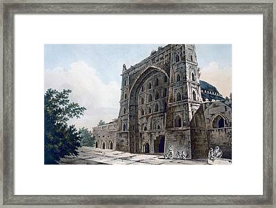 Musjid At Jaunpur Framed Print by William Hodges