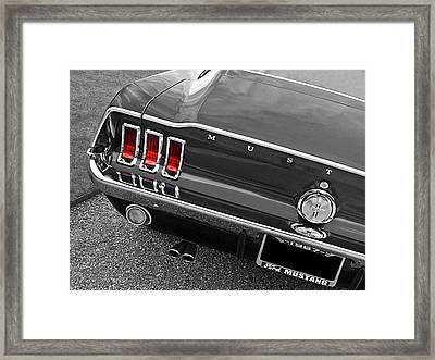 Must Have Mustang 1967 Black And White Framed Print by Gill Billington