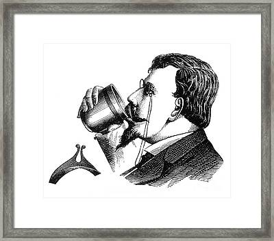 Mustache Guard 1872 Framed Print by Science Source