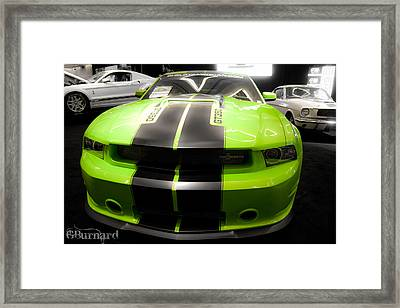Mustang Love Framed Print by Guinapora Graphics