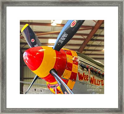 Mustang P-51d Wee Willie Framed Print by Gregory Dyer
