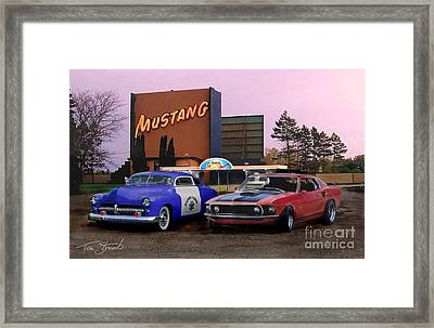 Mustang Way  Framed Print by Tom Straub