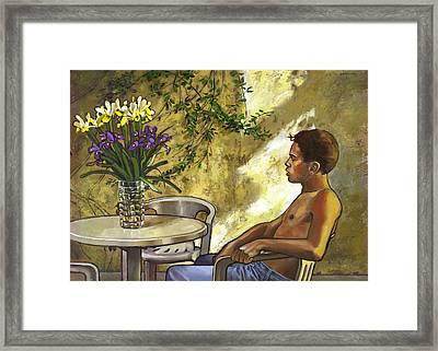 Mustapha's Garden Framed Print by Douglas Simonson