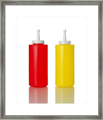 Mustard And Ketchup Framed Print by Jim Hughes