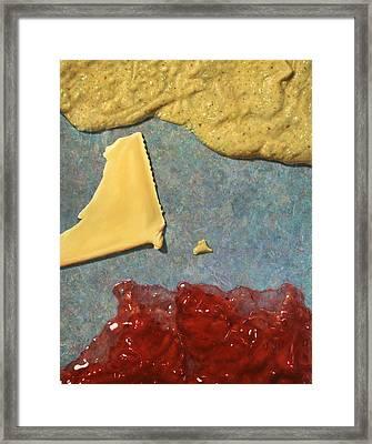 Mustard  Cheese Jam Framed Print by James W Johnson