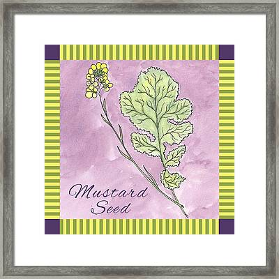 Mustard Seed  Framed Print by Christy Beckwith