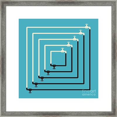 Mutual Dependancy Framed Print by Igor Kislev