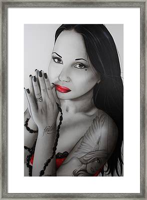 Portrait - ' My Angel Of Light ' Framed Print by Christian Chapman Art