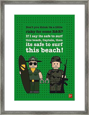 My Apocalypse Now Lego Dialogue Poster Framed Print by Chungkong Art