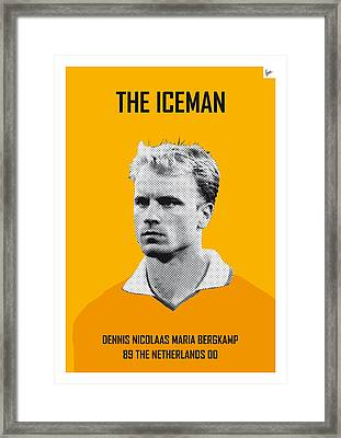 My Bergkamp Soccer Legend Poster Framed Print by Chungkong Art