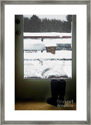 My Boots Framed Print by Cindi Ressler